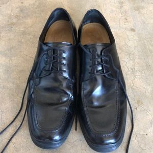 💙Cole Haan Black Leather Lace-Up Oxfords